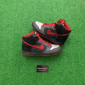 "2008 Dunk High ""bred suede"" (Sz 10)"